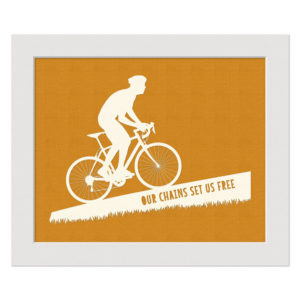 roadie cream orange our chains set us free 10x8 landscape